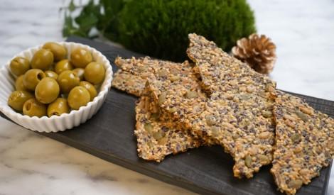 Veselīga alternatīva maizei - sēklu krekeri