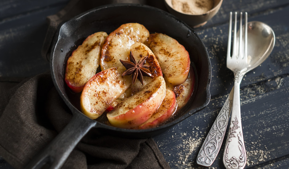 Karamelizētas ābolu šķēlītes