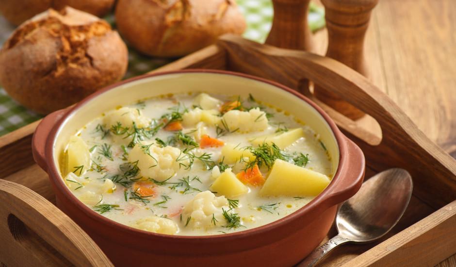 Dārzeņu - siera zupa
