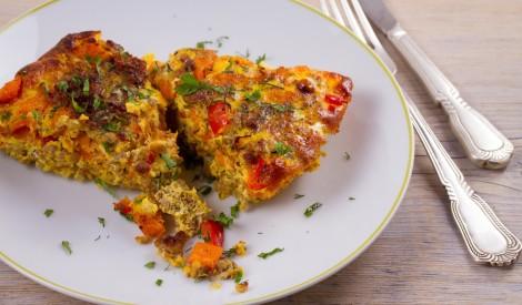 Ķirbju un paprikas omlete