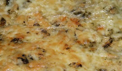 Kabaču sacepums siera mērcē