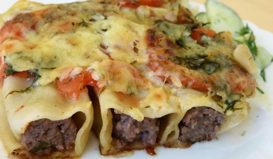 Kaneloni (cannelloni) ar sēnēm