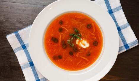 Konservētu tomātu zupa