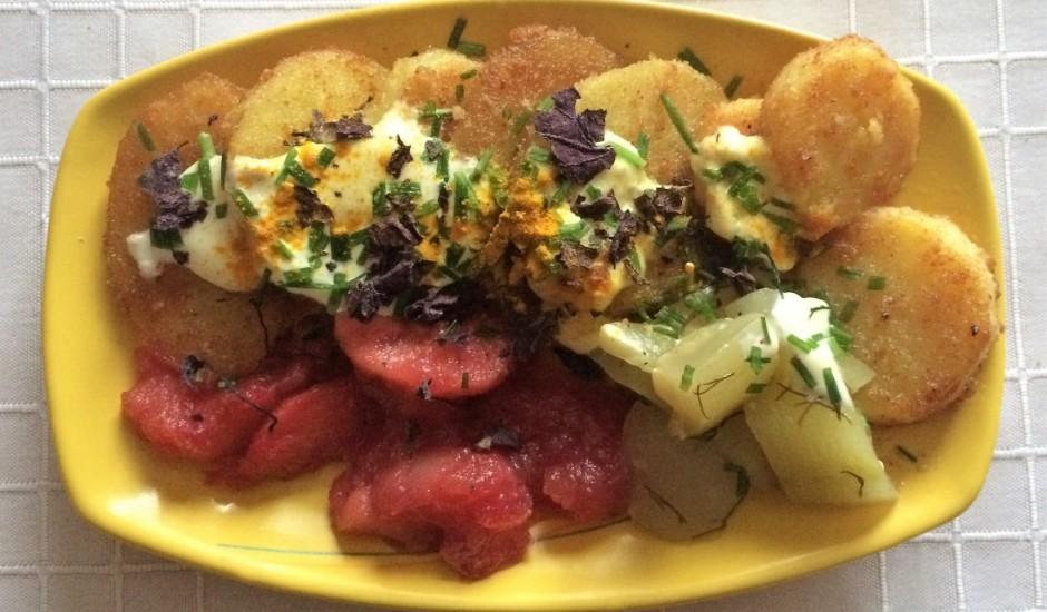 Rīvmaizē cepti kartupeļi