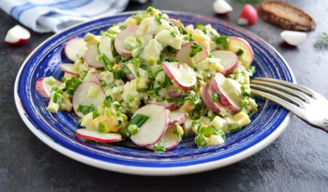 Redīsu salāti ar olu