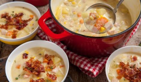 Sātīgā kukurūzas zupa