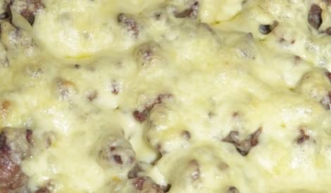 Ziedkāpostu sacepums ar malto gaļu