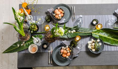 Lieldienu galda noformējums pavasara notīs