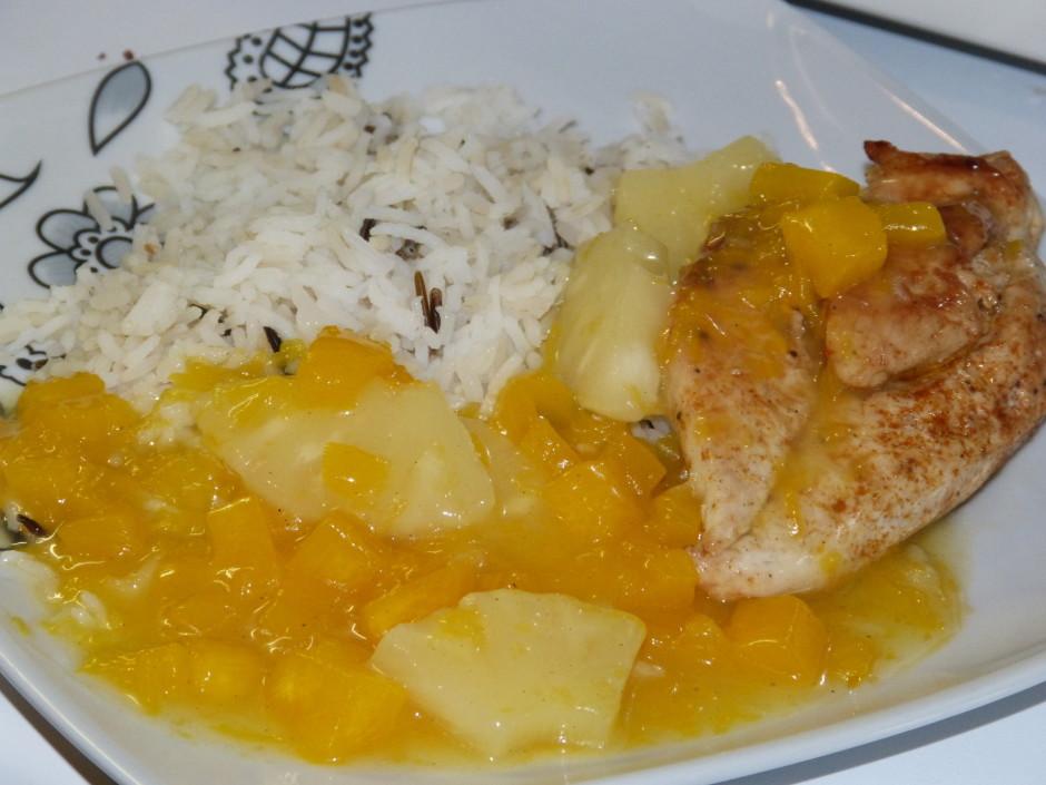 Kartupeļu cieti sajauc ar citrona sulu un pievieno pannā, uz...