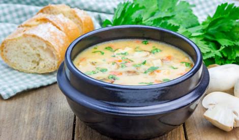 Vistas zupa ar šampinjoniem