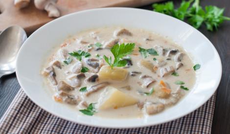 Lieliskā šampinjonu zupa