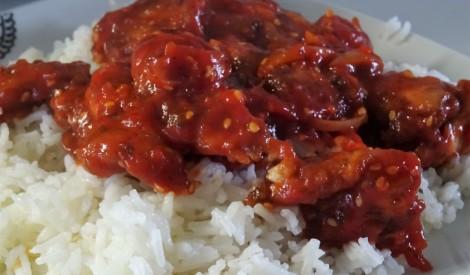 Medus vista ar rīsiem un olu