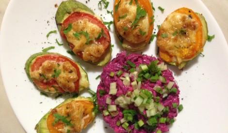 Kabaču un tomātu uzkoda vakariņām