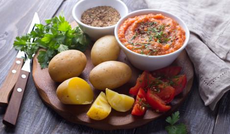 Ķirbja - tomātu aukstā mērce