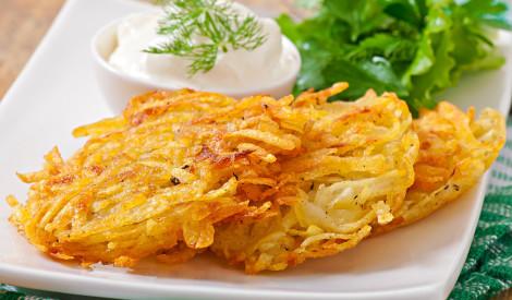Kraukšķīgas kartupeļu pankūkas ar ķiploku