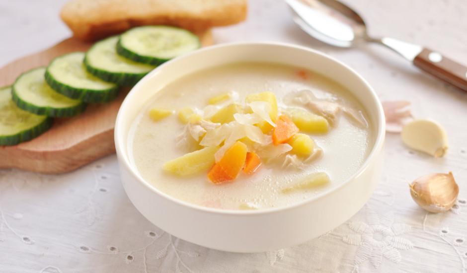 Piena zupa ar dārzeņiem