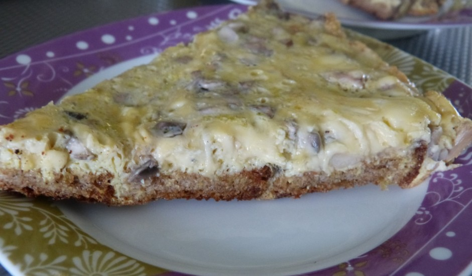Omlete ar rupjmaizi un sieru