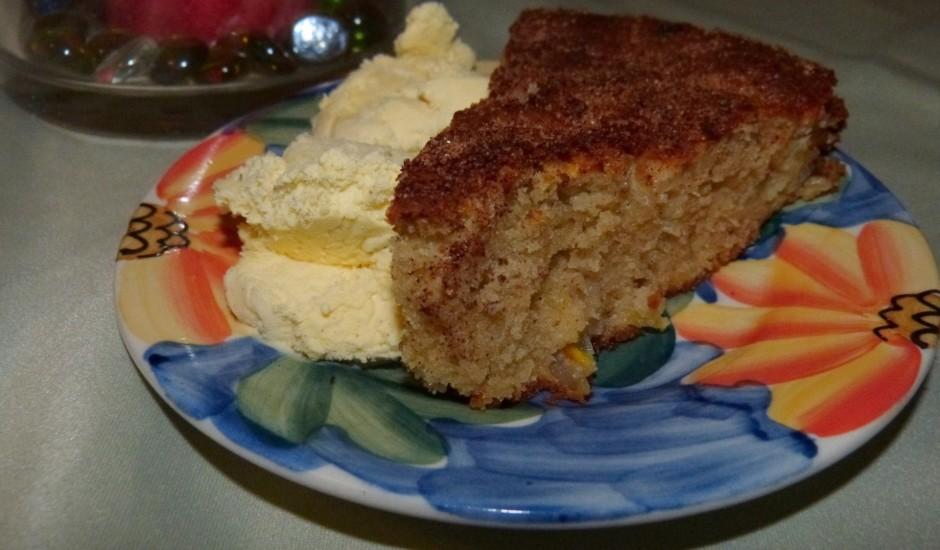 Ābolu kūka ar apelsīna 'piesitienu'