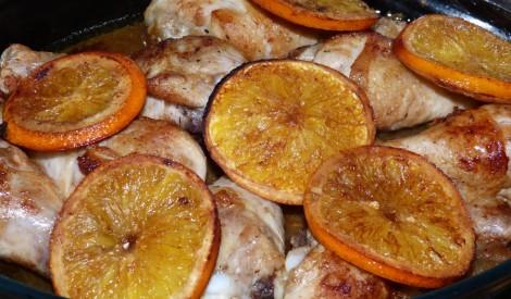 Vistas stilbiņi balsamiko un apelsīnu mērcē.