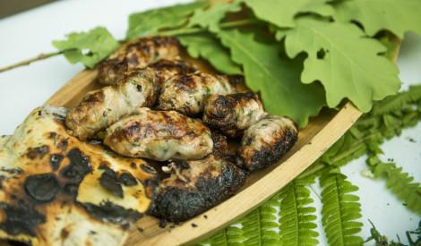 Maltās gaļas šašliks grieķu gaumē