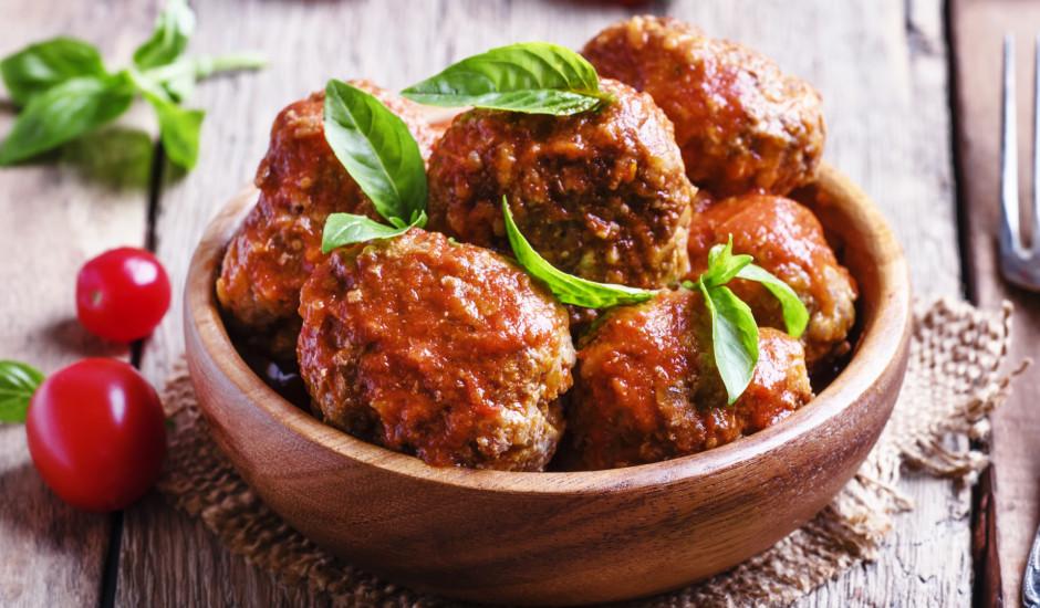Maltās gaļas lodītes tomātu mērcē