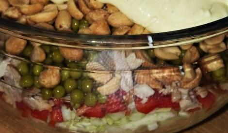 Kraukšķīgie salāti ar vistu