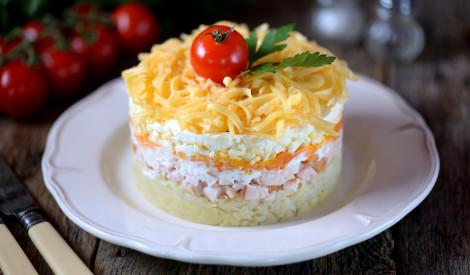 Kārtainie vistas salāti