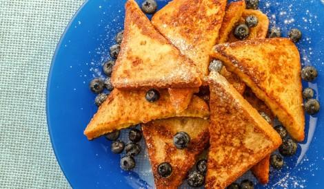 Saceptas olu maizītes jeb vienkāršie franču grauzdiņi