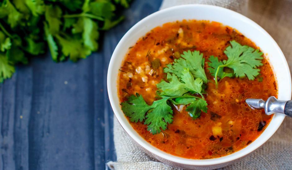 Liellopu gaļas zupa ar rīsiem jeb Harčo
