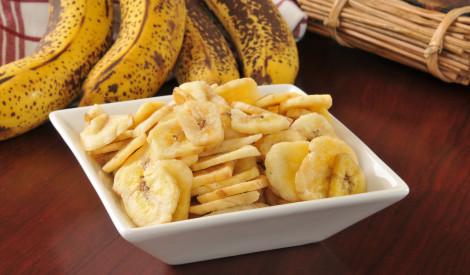 Kraukšķīgie banānu čipsi