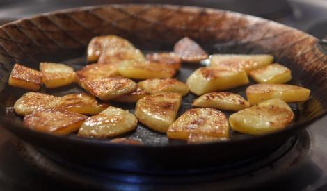 Brūnās kartupeļu šķēlītes