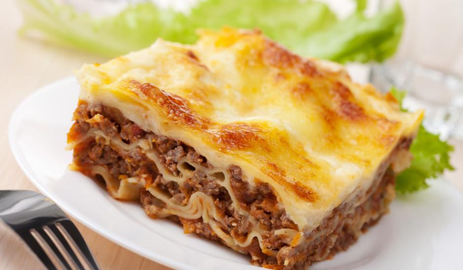 Lazanja ar malto gaļu