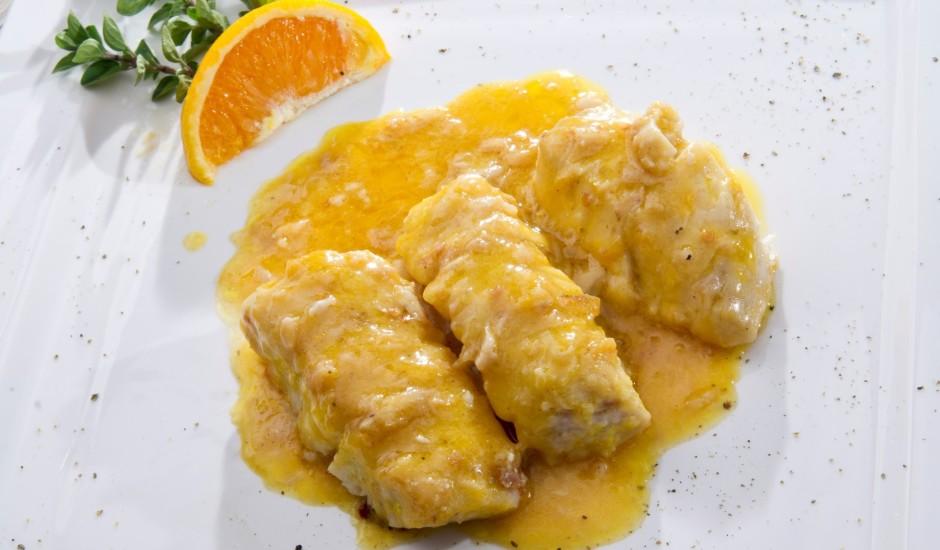 Līdakas fileja sviesta un apelsīnu mērcē