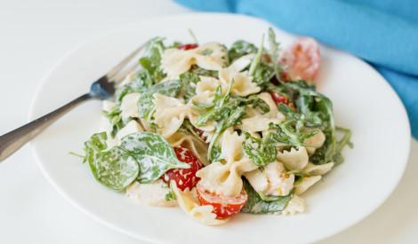 Zaļie makaronu salāti