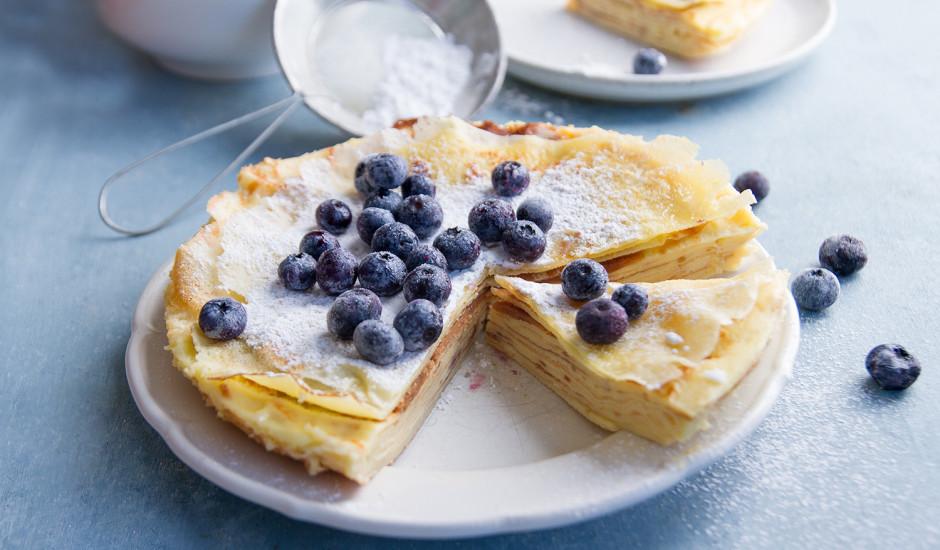 Pankūku torte ar citronu krēmu