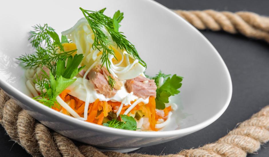 Raibie tunča salāti