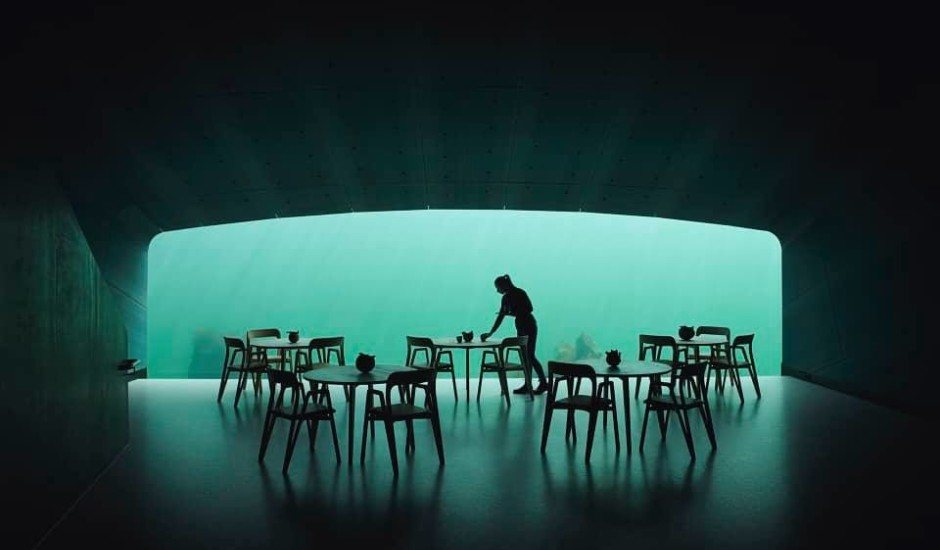 Atvērts pirmais zemūdens restorāns Eiropā