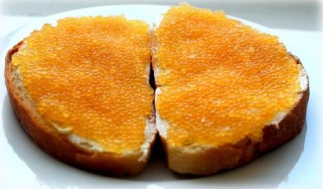Līdakas ikri maizītēm