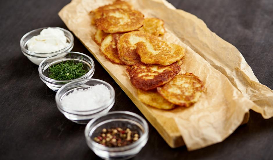 Mazās kartupeļu pankūkas bez olām