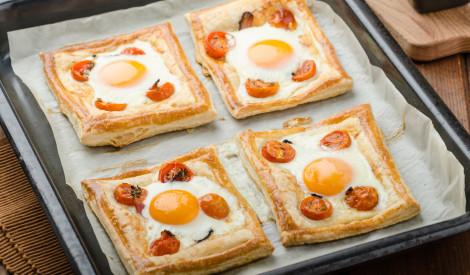 Kārtainās mīklas brokastu maizītes