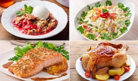 Rabarberi ar zemenēm, aukstā zupa un perfekts lasis: plānojam maltīti nedēļai!