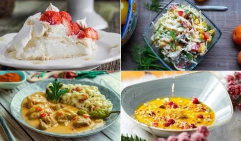 Klasiski grauzdiņu salāti, košas zupas un debešķīga Pavlova: maltīšu plāns nedēļai!