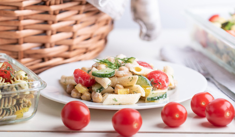 Pastas salāti ar garnelēm