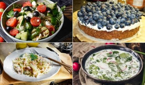 Pavadām jūliju un sveicinām augustu: gardas maltītes visai nedēļai