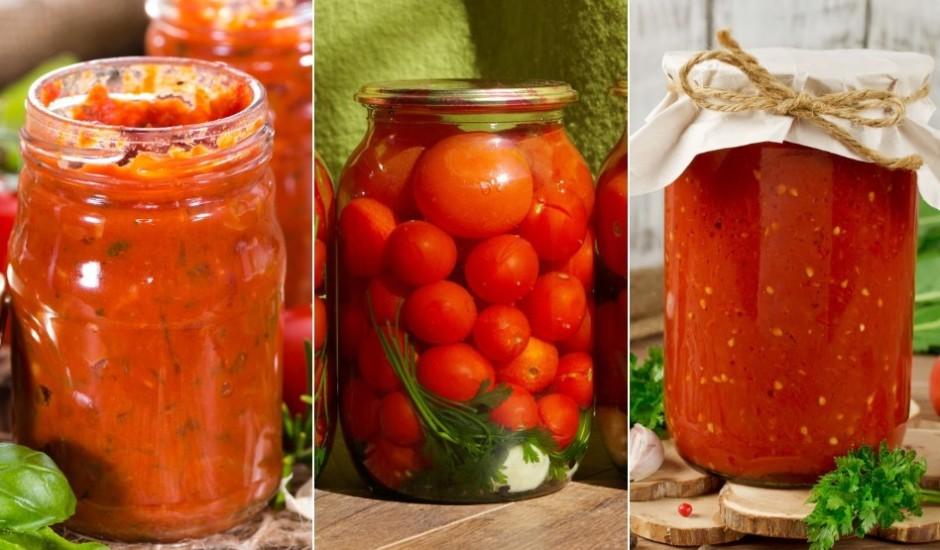 Tukšo siltumnīcu: 12 tomātu konservēšanas receptes