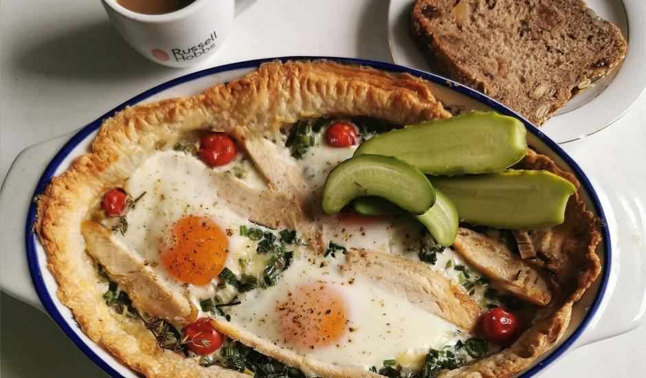 Cepta ola uz kārtainās mīklas
