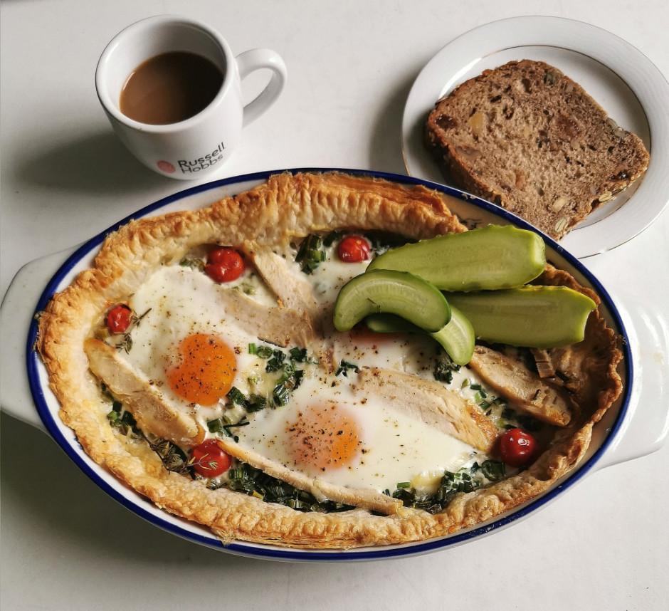 Cep kādas 15 minūtes, ne ilgāk, lai olas sabiezē. Var pasnie...