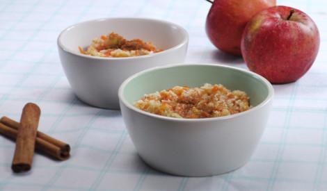 Rīsu putra ar ķirbi un āboliem