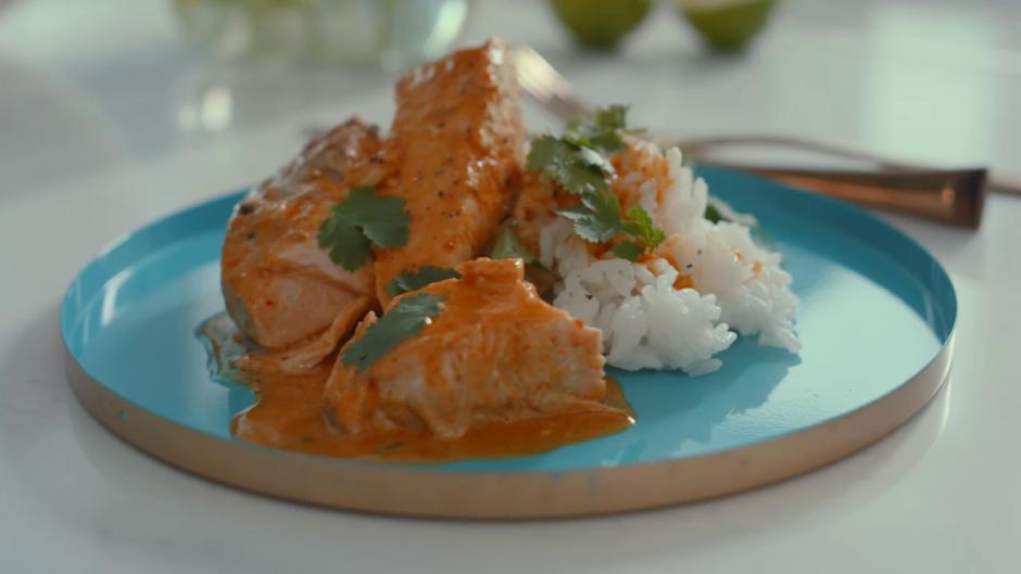 Šādi pagatavotu lasi var pasniegt kopā ar rīsiem (sevišķi ar...