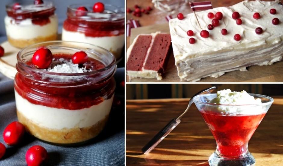Sarkans un balts: saldumi latvietim mīļās krāsās un garšās